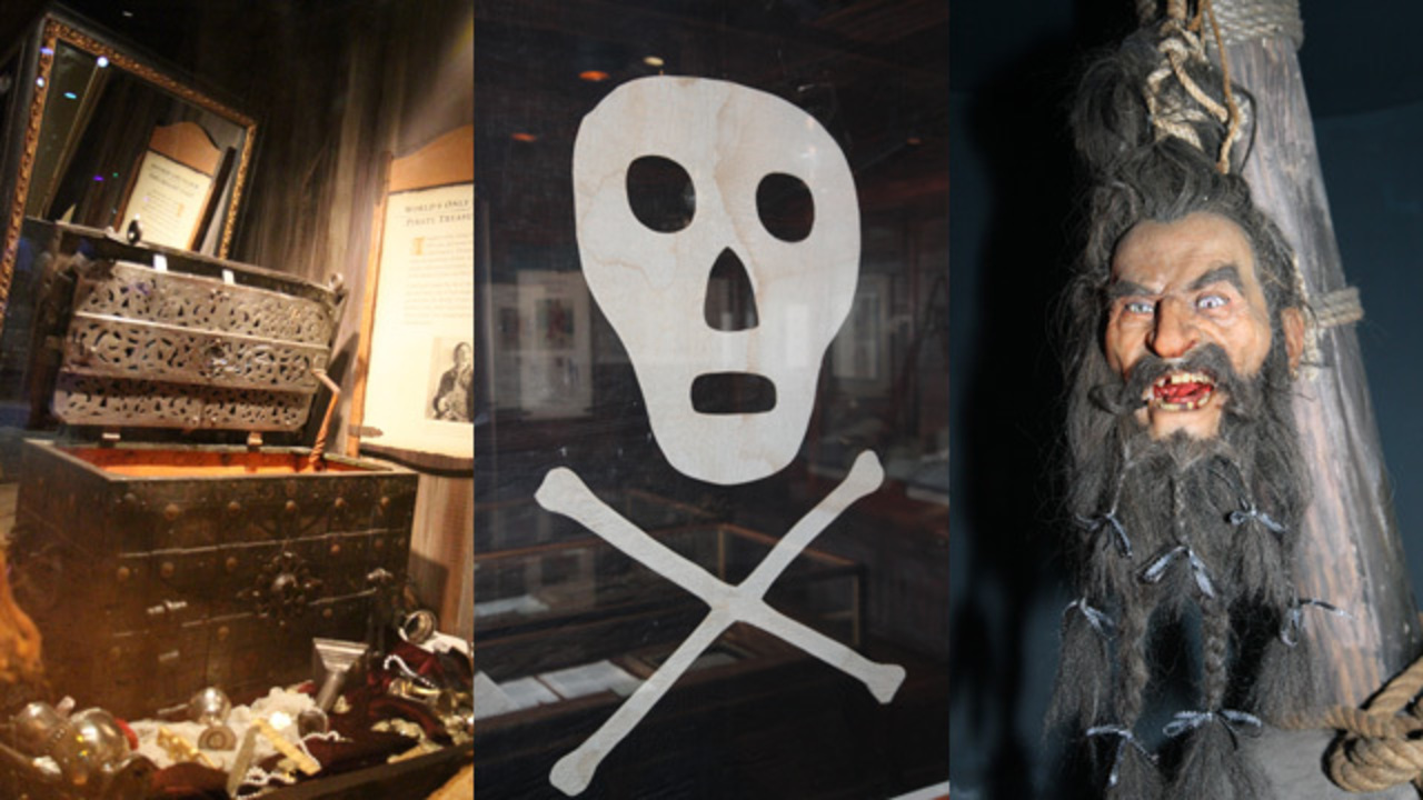 See Only Real Pirate Treasure Chest Hear Blackbeard Die At Pirate - Pirate museums in the us