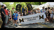 The Inman Park buterfly group takes part in the Inman Park festival parade.