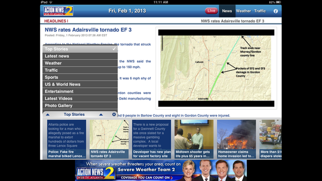 Tour the Channel 2 Action News iPad app | WSB-TV