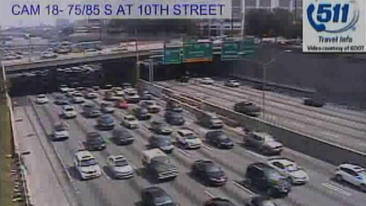 3 lanes of SB I-75/85 connector closed for road work | WSB-TV