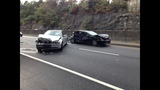 Some of the damaged vehicles left from the crash_4013832