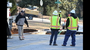 Officials did not say when the road is expected to reopen. JOHN SPINK/JSPINK@AJC.COM