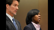 Sandra Ward, sits with her attorney Page Pate during the hearing. Ward. a former administrator at Parks Middle School, pleaded guilty to a reduced charge. She was sentenced to serve one year probation, repay $5,000 she received in bonus money, perform 250 hours of community service and cooperate with the prosecution. Educators in the Atlanta Public Schools cheating scandal enter pleas before Judge Jerry Baxter in Fulton County Superior Court Friday, February 21, 2014. Any defendants in the widespread Atlanta Public Schools cheating case who don't make guilty pleas by the end of Friday will likely go on trial this spring, including Superintendent Beverly Hall and senior members of her staff. KENT D. JOHNSON / KDJOHNSON@AJC.COM