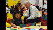 Vice President Joe Biden visits a pre-school class at the East Lake Early Leaning Academy Tuesday morning March 4, 2014.Biden visited with the kids after meeting briefly with Sen. Sam Nunn, Tom Cousins and Carol Naughton, executive director of the Eastlake Foundation.