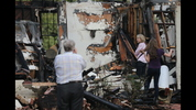 The remains of a Buckhead estate on Habersham after a fire destroyed the home.