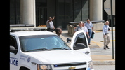 Rail service into and out of MARTA's Civic Center station downtown was shut down late Tuesday morning July 8, 2014, while police investigated a suspicious package. Children were evacuated from a nearby building. JOHN SPINK/SPINK@AJC.COM