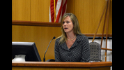 Executive director of the state ethics commission, Holly LaBerge, testifies on April 2, 2014 in the whistle blower lawsuit brought by former executive director Stacey Kalberman.