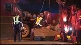 Tractor-trailer crashed into I-85 median_5759237