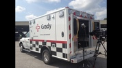 Channel 2's Richard Elliot took pictures of the ambulance rigged for carrying contagious patients. This ambulance also transported Ebola patient Kent Brantly and will transport the next patient Nancy Writebol.