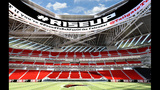 The New Atlanta Falcons stadium, which opens in 2017, will seat 71,000 spectators._6629366