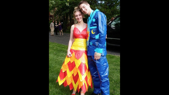See Prom Dresses Made Of Duct Tape Wsb Tv