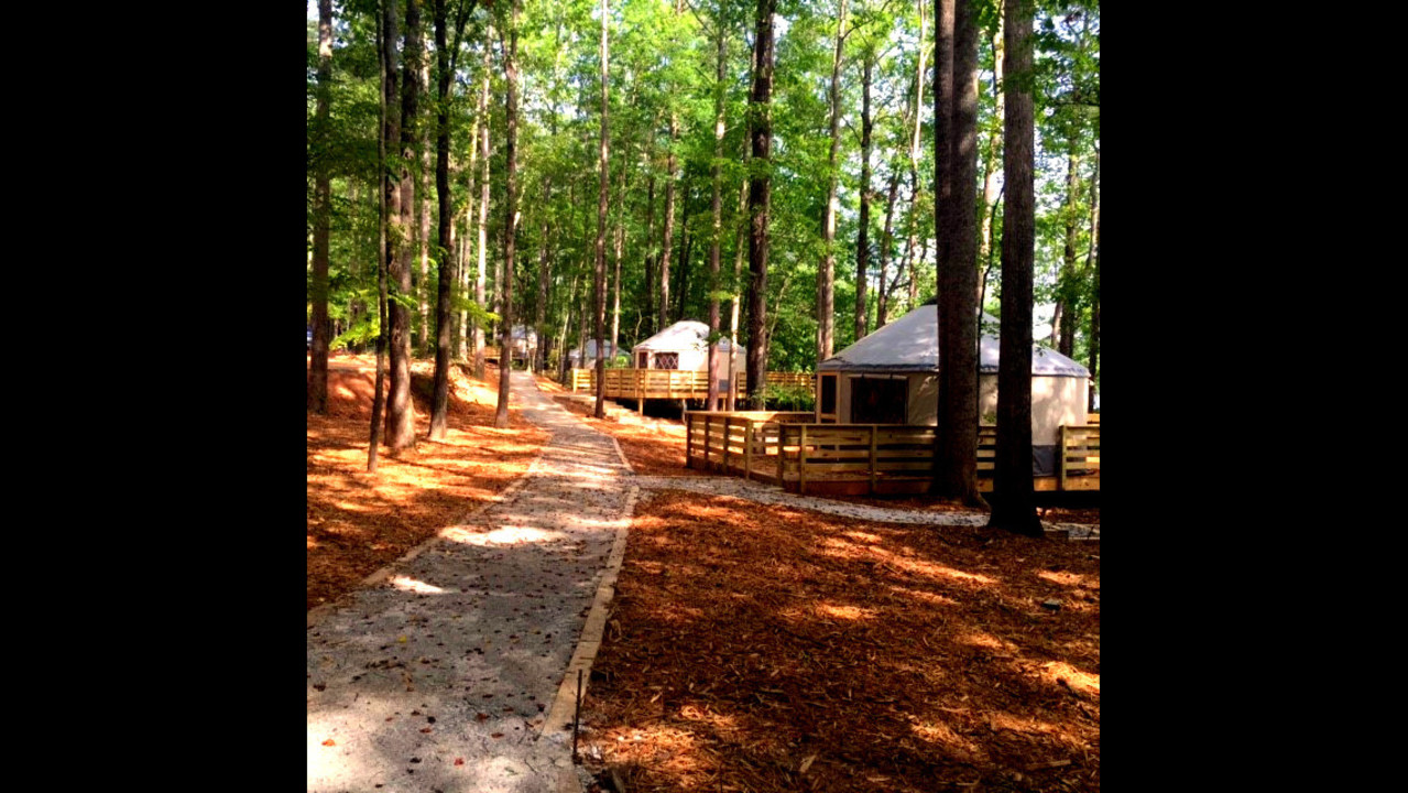 Sweetwater Creek State Park unveils yurt village - WSBTV