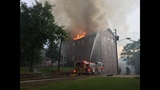 Fire crews say the building is abandoned_7969911
