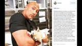 Dwayne 'The Rock' Johnson and puppy, Brutus_8217734