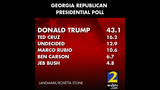 Results for the Republican presidental poll_8482007