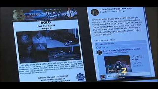 Local police department warns of using FB page to report