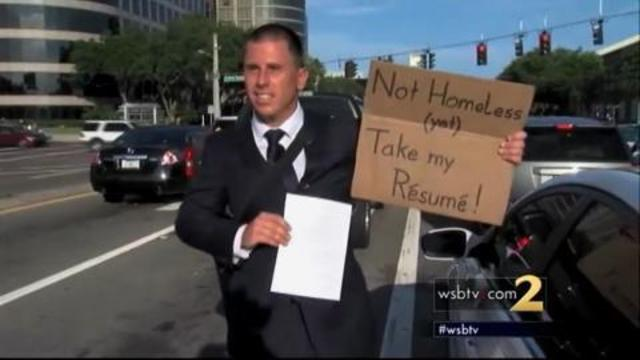 man gets new job after handing out resumes on side of road wsb tv