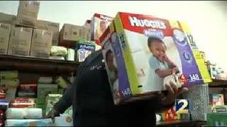 Georgians to donate diapers to baby supply bank