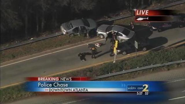 Police chase ends with 3 arrests on live TV | WSB-TV