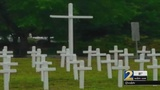 Memorial Day crosses removed after complaints