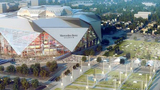 An aerial rendering of Mercedes-Benz Stadium, slated to open next year in downtown Atlanta. (Mercedes-Benz Stadium)