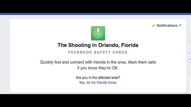 Facebook offers 'safety check' for Orlando residents   WSB-TV