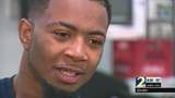 Devon Gales learning how to walk again