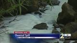 Chemical spill turns Smyrna creek white