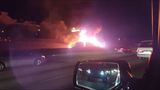 Tractor trailer explodes on I-285; driver in critical condition