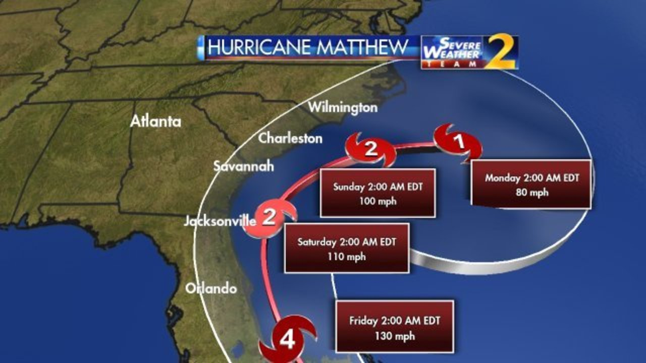 East Coast Braces For Hurricane Matthew As It Moves Through - Georgia map hurricane