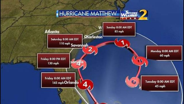 Hurricane Matthew Mandatory Evacuations Issued For Parts Of - Georgia map hurricane