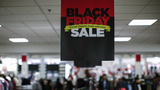 People shop at the JCPenney store at the Newport Mall on November 27, 2014 in Jersey City, New Jersey. Black Friday sales, which now begin on the Thursday of Thanksgiving, continue to draw shoppers out for deals and sales.