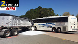 1 dead, dozens injured in Gilmer County tour bus crash