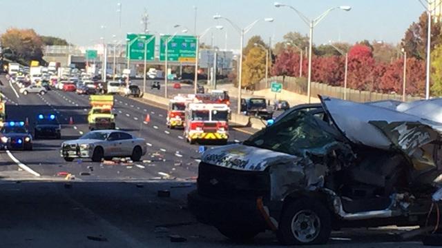 I-20 shut down due to multiple crashes   WSB-TV