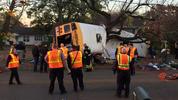 The crash happened around 3:30 p.m. Monday.