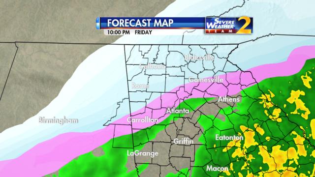 Forecast for 10 p.m. Jan. 6