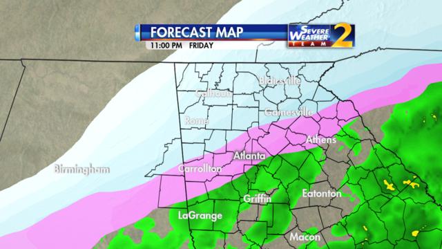 Forecast for 11 p.m. Jan. 6