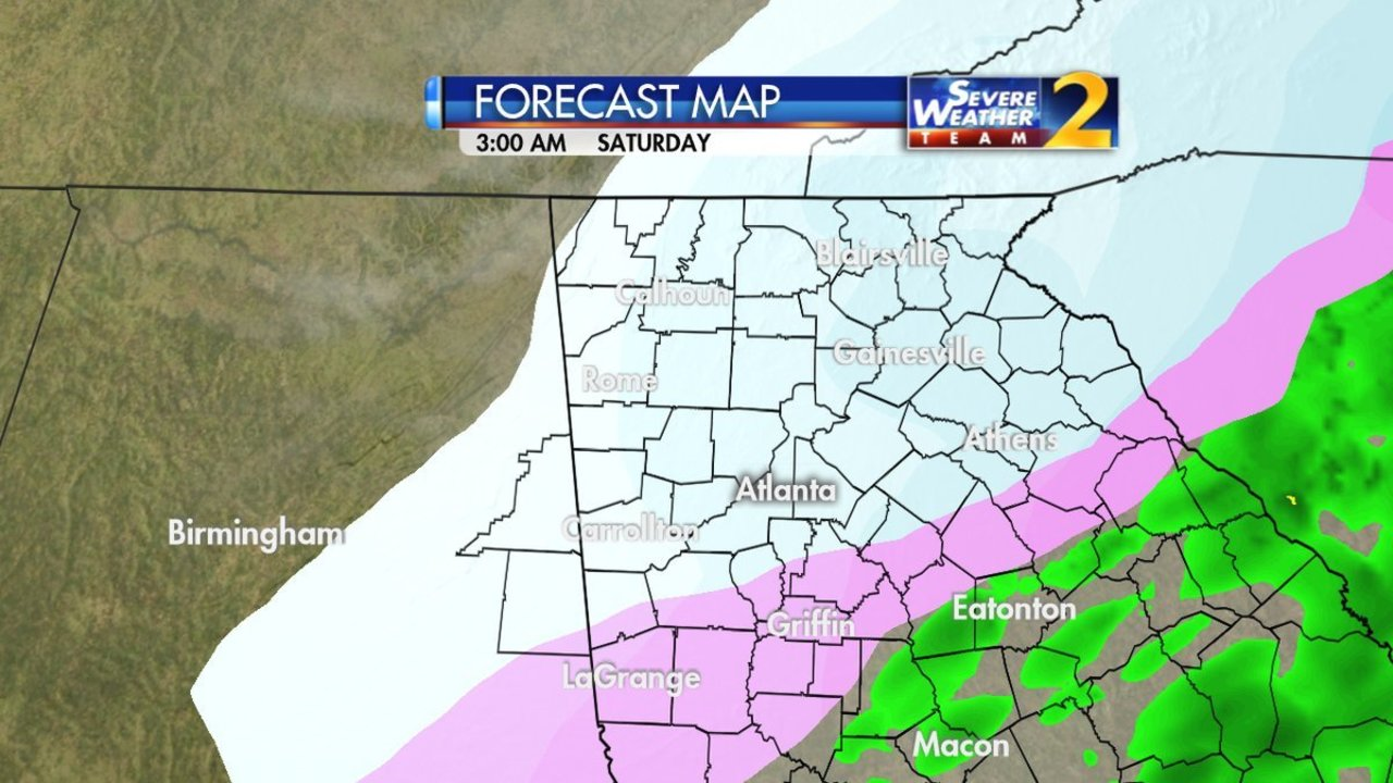 Atlanta Weather When Will Atlanta And Georgia See Snow And How Much Approaching Winter Storm To Bring Snow And Ice Wsb Tv