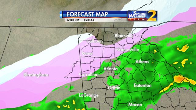 Forecast for 6 p.m. Jan. 6