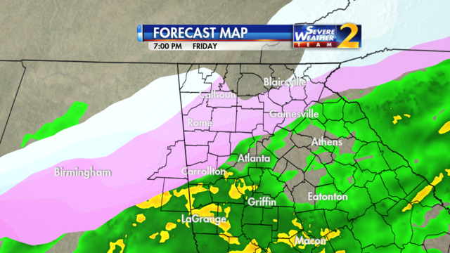 Forecast for 7 p.m. Jan. 6