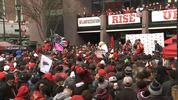 Pep rally for Falcons.