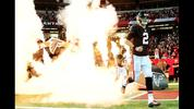 ON-FIRE MATT: Ryan runs out of the tunnel prior to the game against the San Francisco 49ers at the Georgia Dome on December 18, 2016 in Atlanta, Georgia. (Photo by Scott Cunningham/Getty Images)