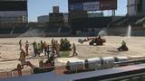 Crews install turf at new home of Atlanta Braves
