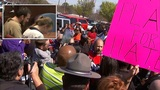 Things get heated despite no-show by KKK for planned protest