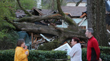 Crews repairing utility poles, removing uprooted trees after severe storms