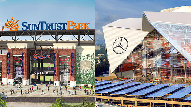 Food prices at suntrust park vs mercedes benz stadium for Mercedes benz stadium price