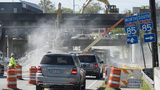 Demolition is underway on the section of I-85 that collapsed in a fire Thursday evening in Atlanta, Georgia, on Sunday, April 2, 2017. (DAVID BARNES / DAVID.BARNES@AJC.COM)