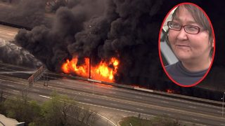 Key witness charged after I-85 fire:
