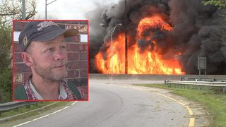 Second witness charged in I-85 fire: