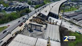 NewsDrone 2 shows progress of I-85 bridge repairs